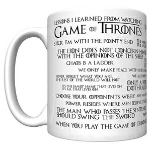 CJ Artisans Lessons I Learned From Watching Game of Thrones (Newest Edition) Coffee Mug [gotl]画像
