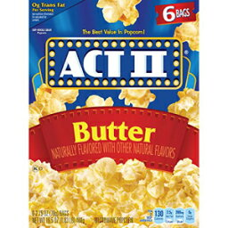 ACT IIバター電子レンジポップコーン、6カウント2.75オンス。バッグ ACT II Butter Microwave Popcorn, 6-Count 2.75-oz. Bags
