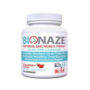 Bionaze Oral Sinus Probiotic w/BLIS K12 & BL-04 for Sinus, Throat, Ear, Nose, Mouth, Teeth and Gums. Clinically Proven Strains to Improve Overall Health and Breath画像