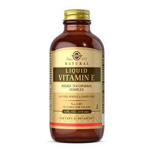 Solgar Liquid Vitamin E (without dropper), 4 fl. oz. - Antioxidant, Skin & Immune System Support, Overall Health - Natural, Liquid Vitamin E - Non-GMO, Vegan, Gluten Free, Dairy Free - 94 Servings画像