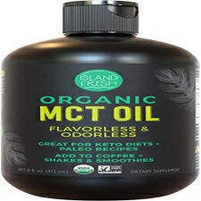 Island Fresh Organic MCT Oil for Keto Diet | Perfect for Morning Coffee, Helps Support Increased Energy | Made from 100% Organic Coconuts (16 fl. oz)画像
