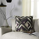 Safavieh Issey Throw Pillow, Charcoal/Purple