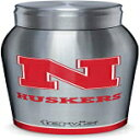 Tervis 1339136 Nebraska Cornhuskers Tradition Insulated 18/8 Stainless Steel Slim Bottle with Silver Lid, 17 oz