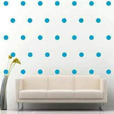 """Light Blue Wall Decal Dots Polka +""""2 Inch 200pcs""""+""""Easy to Peel Easy to Stick"""" +""""Safe on Walls & Paint"""" + Vinyl Polka Dot Decor by BUGYBAGY (Light Blue, 2 Inch)"""