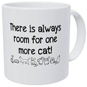 Wampumtuk There Is Always Room For One More Cat 11 Ounces Funny Coffee Mug画像