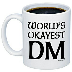 キッチン用品・食器・調理器具, その他 MyCozyCups Dungeon Master Gifts - Worlds Okayest DM Coffee Mug - Funny D20 Dice Roleplaying Nerdy 11oz Cup For Men, Women, Best Friend - Tabletop RTS RPG Card Boardgame Novelty Gift