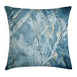 """Ambesonne Marble Throw Pillow Cushion Cover, Exquisite Granite Stone Architecture Floor Nature Faded Rock Picture, Decorative Square Accent Pillow Case, 20"""" X 20"""", Light Blue"""