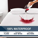 COHOME Queen 100% Waterproof Mattress Protector, Hypoallergenic Fitted 8-21 inch Deep Pocket Breathable Mattress Cover