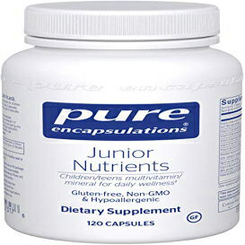 Pure Encapsulations - Junior Nutrients - Hypoallergenic Multivitamin/Mineral Blend Without Iron for Children Ages 4 and Up - 120 Capsules画像