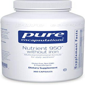 Pure Encapsulations - Nutrient 950 Without Iron - Hypoallergenic Multi-Vitamin/Mineral Formula for Optimal Health - 360 Capsules画像