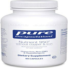 Pure Encapsulations - Nutrient 950 Without Copper & Iron - Hypoallergenic Multi-Vitamin/Mineral Formula for Optimal Health - 90 Capsules画像