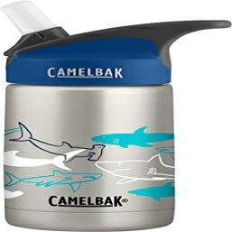 自転車用アクセサリー, ウォーターボトル CamelBak Eddy 12-Ounce Vacuum Stainless Steel Water Bottle - Insulated Water Bottle - Easy Use for Kids Big Bite Valve - No Spilling - Water Bottle with Straw 12 Ounces