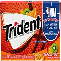 トライデントトロピカルツイストシュガーフリーガム、14個入り12パック(合計168個) 14 Count (Pack of 12), Trident Tropical Twist Sugar Free Gum, 12 Packs of 14 Pieces (168 Total Pieces)