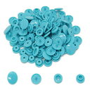 100 Sets KAM Size 20 T5 Resin Plastic Snaps Buttons Fasteners Punch Poppers for Cloth Diaper/Bibs/Unpaper Towels/Nappies/Buttons/Mama Pads (B46 - Teal)