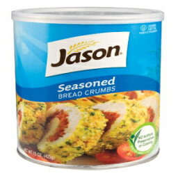 Jasons Seasoned Bread Crumbs 15oz (2 Pack) In Resealable Container, No Artificial Preservatives or Colors