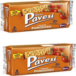 スナック菓子, その他  I Craker Pomodoro Tomato Taste-280gpack of 2 Gran Pavesi: I Craker Pomodoro Tomato Taste - 280g , pack of 2