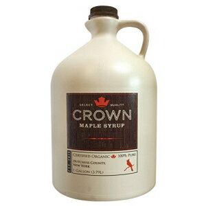 スナック菓子, その他 A128 1 Crown Maple Organic Grade A Maple Syrup, Amber, 128 Fl. Oz (Pack of 1)