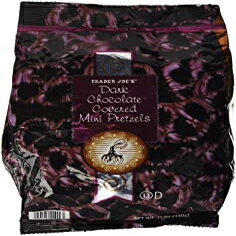 Trader Joe's 12 Ounce (Pack of 1), Trader Joes Dark Chocolate Covered Mini Pretzels (12 Oz)