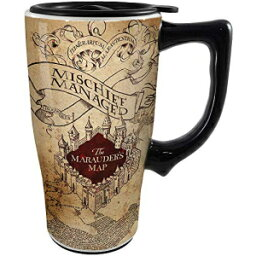 Spoontiques 12736ハリーポッター厳粛にセラミックトラベルマグ、18オンス、オフホワイトを誓う Spoontiques 12736 Harry Potter Solemnly Swear Ceramic Travel Mug, 18 ounces, Off White