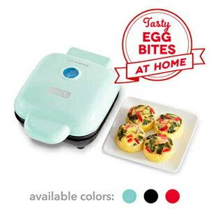 生活家電, その他生活家電 Dash DBBM450GBAQ08 Deluxe Sous Vide Style Egg Bite Maker with Silicone Molds for Breakfast Sandwiches, Healthy Snacks or Desserts, Keto Paleo Friendly, (1 large, 4 mini), Aqua