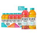 咆哮する有機電解質注入-抗酸化剤、ビタミンB群、低カロリー、低糖、低炭水化物、ココナッツ水を注入した飲料を含むUSDA有機飲料18液量オンス(12パック)(2フレーバーバラエティパック) Roar Organic Electrolyte Infusions - USDA Organic with Antioxidants,