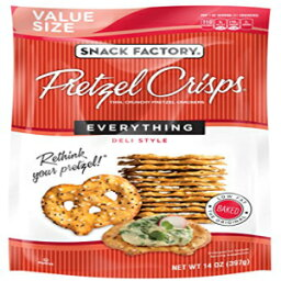 Snack Factory Pretzel Crisps Everything, Large Party Size, 14 Oz