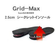 Grid-Max2.5cmシークレットインソール