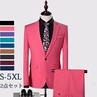 紳士服メンズスーツビジネススーツ大きいサイズスリムバージョン1ボタンビジネススーツ男性用パンツスーツワインレッドブラックネイビーブルーグリーンカーキピンクパープルブラウン/M/L/XL/2XL/3XL/4XL/5XLda862zezed4