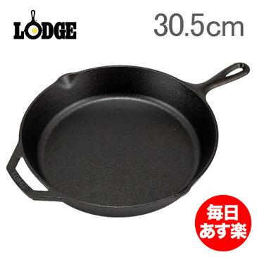 Lodge ロッジ ロジック スキレット 12インチ L10SK3 Lodge Logic Skillet with Assist Handle フライパン グリルパン アウトドア 新生活 [glv15]