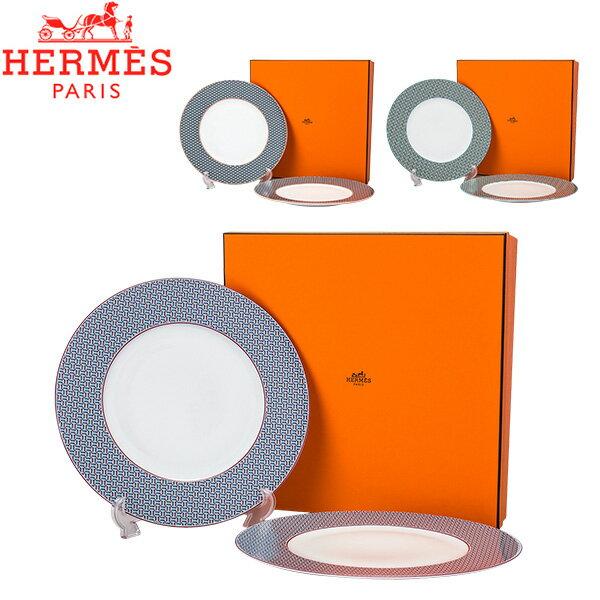 HERMES dishes Hermes 29.5cm 2 TIE SET Dinner Pla...