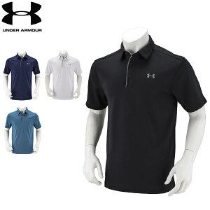 アンダーアーマー Under Armour メンズ ポロシャツ ゴルフ テックポロ 1290140 ゴルフウェア ポロ 半袖ポロ スポーツ スポーツウェア ラッピング対象外 あす楽