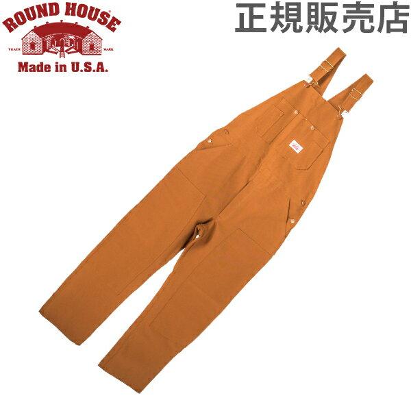 【あす楽】 ラウンドハウス Round House #83 デニム オーバーオール ブラウンダック メンズ ブラウン Men's Brown Duck Bib Overalls ビブ【5%還元】