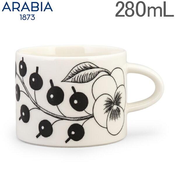 アラビア Arabia カップ 280mL パラティッシ ブラック Paratiisi Cup Black & White マグ コップ 食器 磁器 北欧 1005403 6411800066778 あす楽