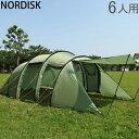 ノルディスク レイサ6 テント 6人用 タープ アウトドア キャンプ ダスティーグリーン 122032 NORDISK Leisure Tents & Tarps Reisa 6 5%還元 あす楽