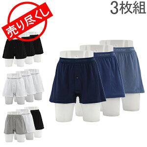 売り尽くし カルバンクライン Calvin Klein メンズ ボクサーパンツ ニットボクサー Cotton Classics Knit Boxer 3枚セット アンダーウェア パンツ あす楽