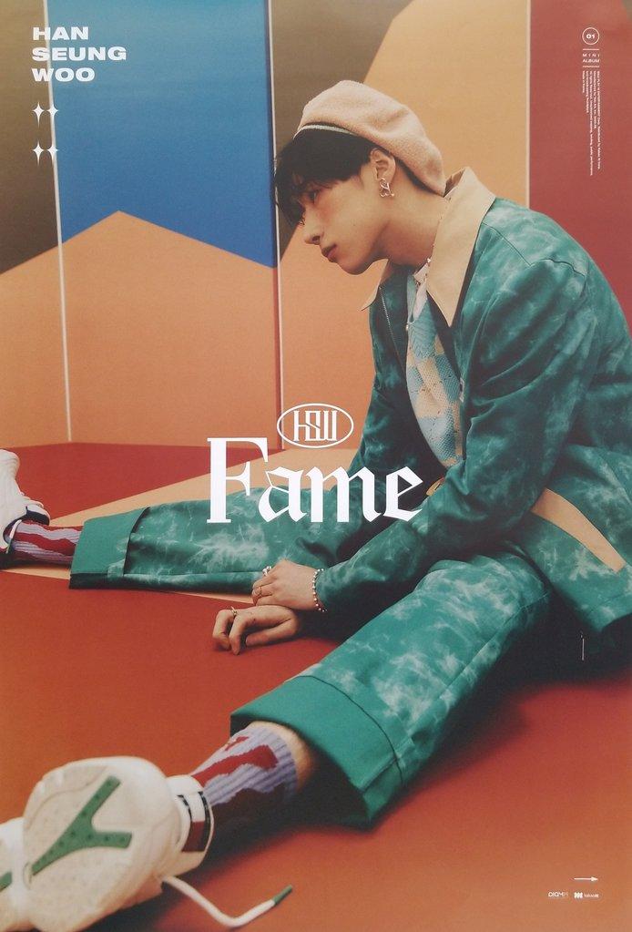 ミュージック, 韓国(K-POP)・アジア HAN SEUNG WOO 1ST MINI ALBUM FAME OFFICIAL POSTER - PHOTO CONCEPT WOO