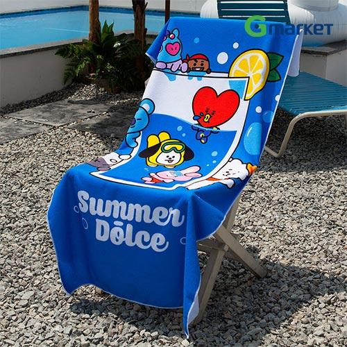 韓国(K-POP)・アジア, 韓国(K-POP) BT2121BT21 BT21 microfiber suede summer beach bath towel ultralightBT21bt21BT21BTS