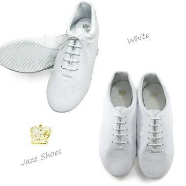 【正規販売代理店】 (クラウン ジャズシューズ) CROWN JAZZSHOES( ホワイト・ブラック )レザー ダンスシューズ ひも靴 マニッシュシューズ crown クラウン ダンスジャズ crownjazz crown クラウン ジャズ シューズ crown jazz WHITE 白