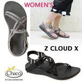 【WOMEN'S】 国内正規品 細身のWストラップが特徴 CHACO ( チャコ ) Women's ZCLOUD X (CHACO(チャコ)独自に開発したCHACOGRIPソール ) chaco サンダルBLACK HEATHER GRAY レディース chaco
