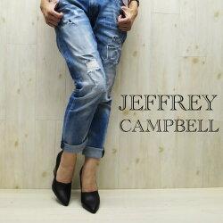 【2015AW】即納シンプルで使い易さも◎足を美しく見せて歩き易い**cmヒールのパンプス艶のある**を使用★JeffreyCampbell(ジェフリーキャンベル)FJF3055マニッシュパンプス