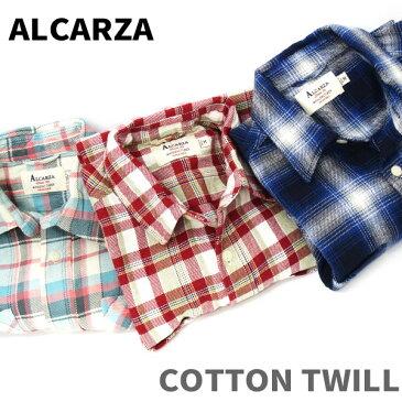 【ALCARZA】 alcarza ツイルチェックシャツ 【全3色】 チェックシャツ メンズ 長袖シャツ メンズ 羽衣シャツメーカー ハゴロモ ALCARZA ( アルカルザ ) 【603-00】