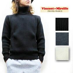 VincentetMireille(ヴァンソンエミレイユ)タートルネックセーターTURTLENECKSWEATER日本製