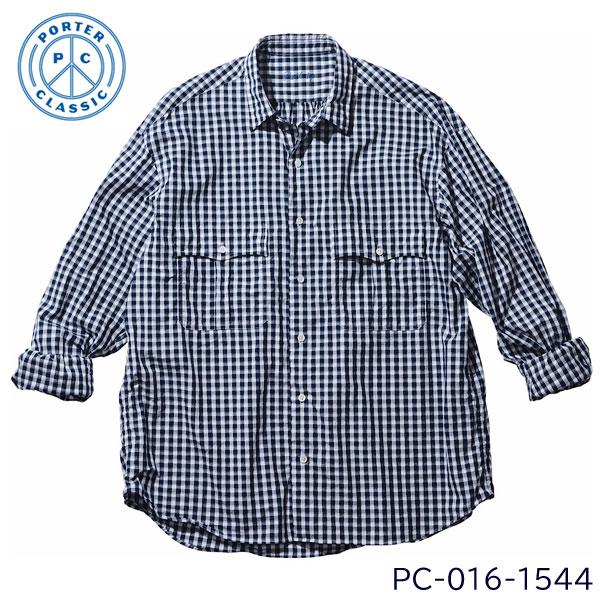 トップス, カジュアルシャツ 2021SS PORTER CLASSIC ( ) ROLL UP GINGHAM CHECK SHIRT ( )NAVY () PC-016-1544