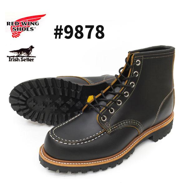 ブーツ, ワーク 1 6 9878 RED WING IRISH SETTER 6MOC-TOE E REDWING 9878 BLACK KLONDIKE
