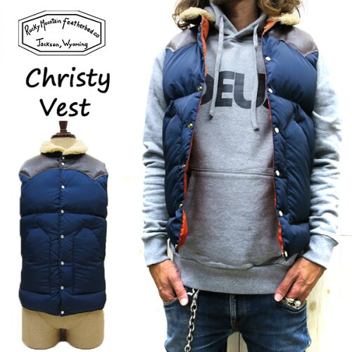 CHRISTY VEST / NYLON (2016AW)ボア付☆ Rocky Mountain Featherbed ロ...