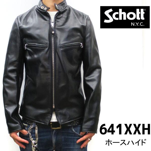 メンズファッション, コート・ジャケット schott Schott ( )641XXH 09 schott HORSE LEATHER JACKET HORSEHIDE