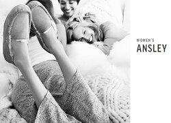2015FW【安心の国内正規商品】ローファータイプのアグママや妊婦さんにもおススメUGGAUSTRALIA(アグオーストラリア)Women'sANSLEY(アンスレー)KNITBOWugg国内正規品uggモカシンアグアンスレーuggスリッポンニットリボン