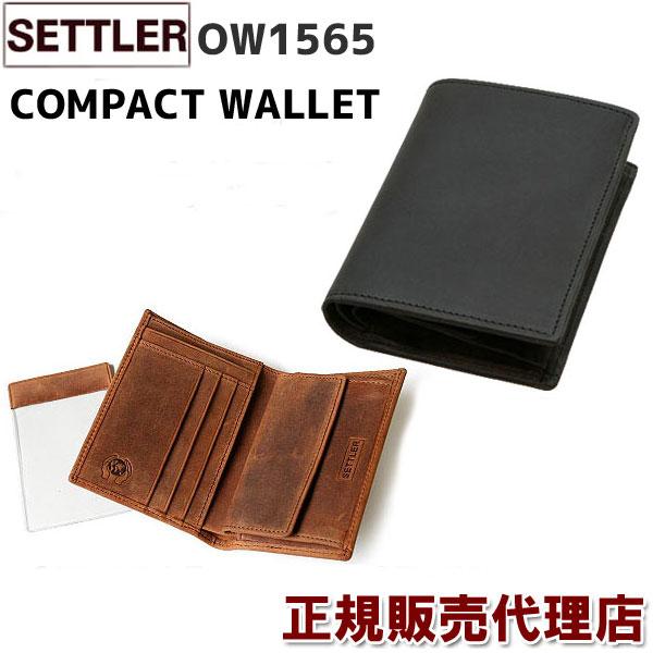 b499dd99d5de 春財布 即納 セトラー独自モデル☆ 革のエイジングを手軽に楽しめる セトラー 財布 ♪SETTLER OW1565 COMPACT WALLET (  BROWN / BLACK )有料ギフト包装サービスもご ...