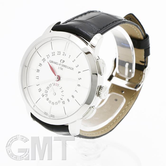 ジラールペルゴ1966デュアルタイム49544-11-132-BB60シルバーGIRARDPERREGAUX新品メンズ腕時計送料無料