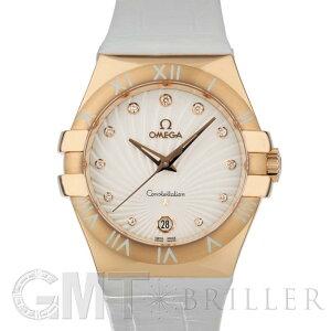 欧米茄Constellation石英35mm红金和皮革表带123.53.35.60.52.001 OMEGA New Ladies手表免费送货